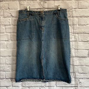 Faded Glory Denim Jean Skirt